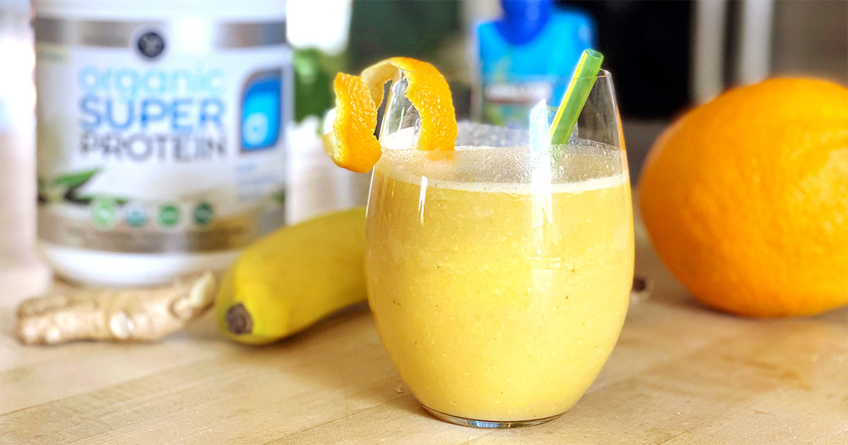 Orange Ginger Energizing Smoothie